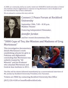 Connect 2 Peace Forum at Rockford University @ Maddox Theater, Rockford University | Rockford | Illinois | United States