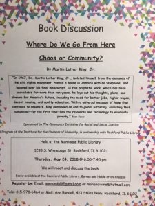Where Do We Go From Here - Chaos or Community?  Book Discussion @ Montague Public Library | Rockford | Illinois | United States