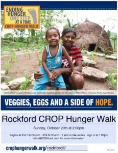 CROP WALK, Ending Hunger One Step At A Time ~ October 20th at 2:00pm @ 2nd 1st Church